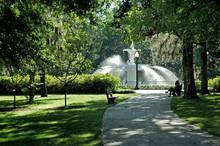 Sunlight On The Fountain