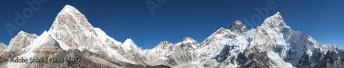 Foto op Canvas Nepal Mount Everest, Lhotse, Nuptse, Pumo Ri and Kala Patthar