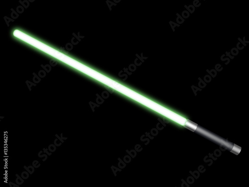 Photographie  Green light saber