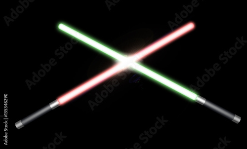 Photo  two light saber