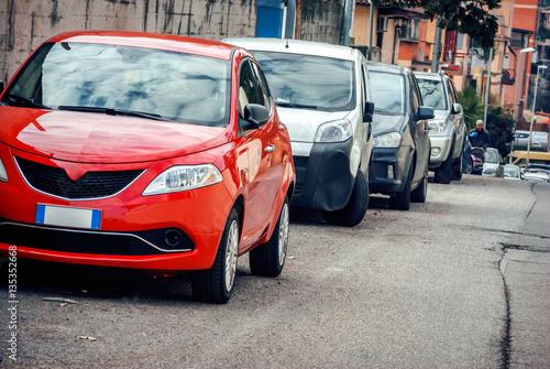 Fotografia, Obraz  Red car