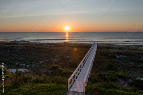Atlantic Ocean sunrise in Florida Wallpaper Mural