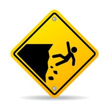 Danger Cliff Edge Warning Sign