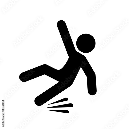 Slippery floor pictogram - 135363053