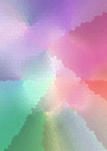 Abstract Bright Background Of The Cells Pastel Rainbow Shades Collected In Stained Glass