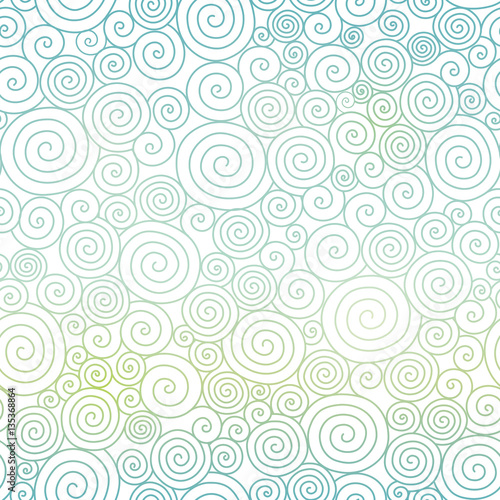 Vector Blue Pastel Gradient Abstract Swirls Texture Seamless Pattern Background Great For Elegant Fabric