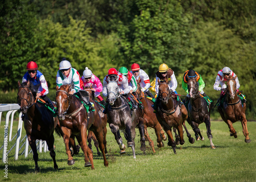 Horseracing in Czechia, Europe Fototapet