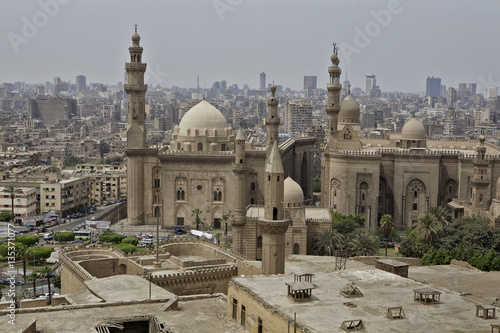 Staande foto Afrika Mosque of Sultan Hassan in Cairo old town