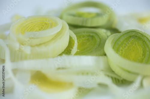 Fotografia, Obraz  Leeks sliced in thin rings