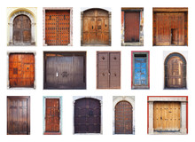 South American Door Composite Isolated On White