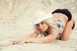 Girl on the sand