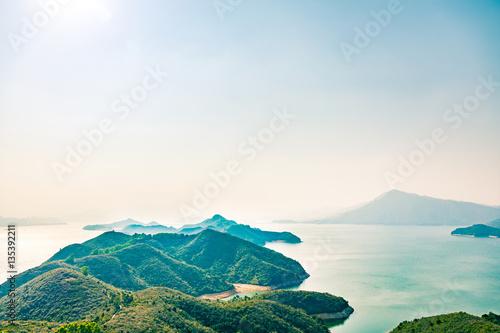 Deurstickers Wit Coast in countryside, Hong Kong
