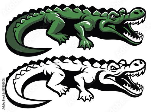 Fototapeta premium crocodile mascot