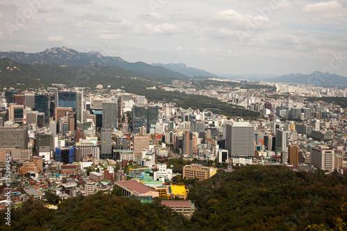 Photo  Aerial views of Seoul, South Korea