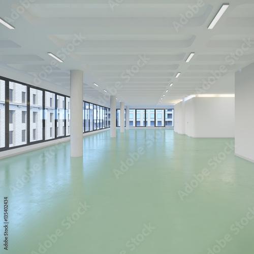 Staande foto Industrial geb. leerstehendes Bürogebäude - Bürofläche - Gewerbefläche - Immobilie