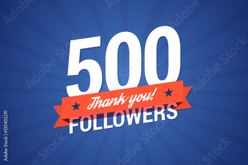 Fotografia  500 followers vector illustration