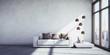 Leinwanddruck Bild - Sofa im NY-Loft