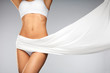 Health. Closeup Of Beautiful Slim Woman Body In Perfect Shape