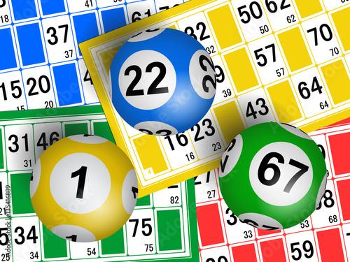 Loto. Bingo. Cartes et boules Poster