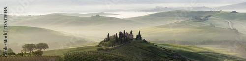 Fotografie, Obraz Panoramica della Val d'Orcia in Toscana