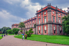 National Museum Of Capodimonte. It Is Italy's Largest Museum And Holds Neapolitan Painting, Decorative Art And Important Ancient Roman Sculptures. Palace Of Capodimonte.