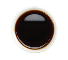 Soy Sauce In White Bowl Isolat...