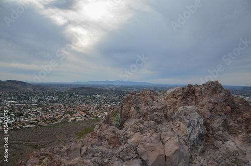 Spoed Foto op Canvas Blauwe hemel Lookout Mountain
