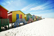 canvas print picture - Beach huts at Muizenberg, South Africa