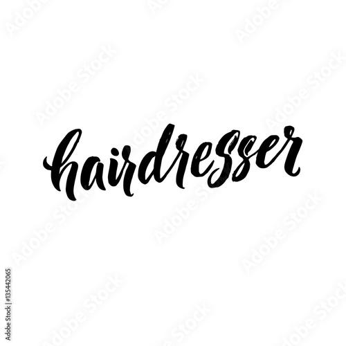 Fotografie, Obraz  Hair Dresser Typography Square Poster