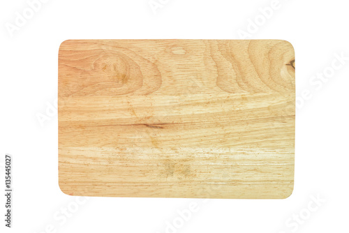 Foto  Cutting board isolated on white background