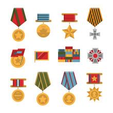 Set Of Public Commemorative Award Medals.