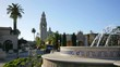 High quality video of fountain in Balboa Park in San Diego in 4K