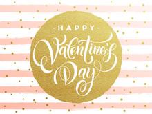 Happy Valentine Day Golden Gli...