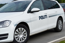 Photo With Danish Police Car.