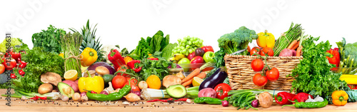 In de dag Verse groenten Organic vegetables and fruits