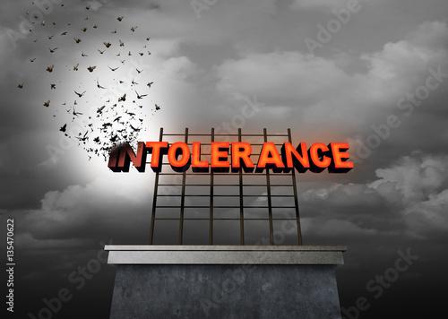 Intolerance Social Issue Canvas Print