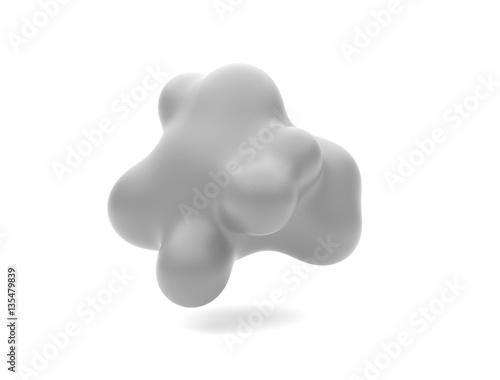 Zdjęcie XXL szary miękki geometryczny kształt. 3d abstrakcjonistyczny renderingu tło