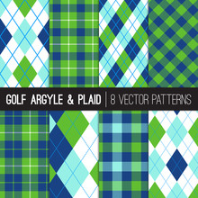 Golf Style Argyle And Tartan P...