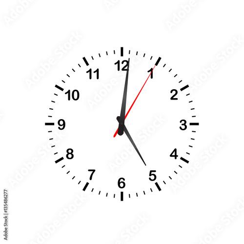 Fotografía  Simple Vector Kitchen Clock