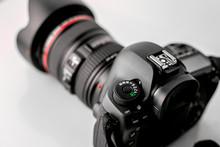 Beautiful Shot Of Control Dial Nob Of A Professional DSLR Camera