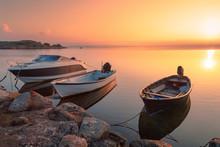 Three Motor Fishing Boats At T...