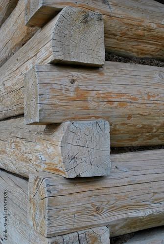 Obraz Dom zrębowy - fototapety do salonu
