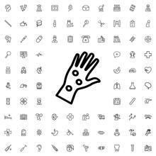 Arm Rash Icon Illustration