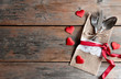 Valentines day romantic dinner background
