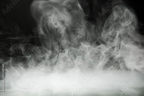 Poster Fumee smoke background and dense fog