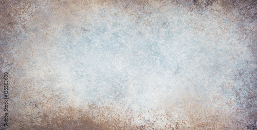 Obraz old stained blue and white background with dirty grunge textured borders and elegant rustic vintage style design with light center and dark grungy border - fototapety do salonu