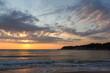 Sunrise Panorama from Beach of town of Tsarevo, Burgas Region, Bulgaria
