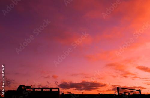 Foto op Plexiglas Crimson 優しく染まる空