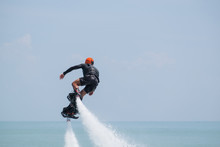 Showing Flyboard On Ao Makham During Children's Day In Phuket, T