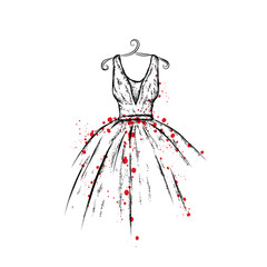FototapetaDress in the vector. Hand drawing clothes . Vintage . Fashion.